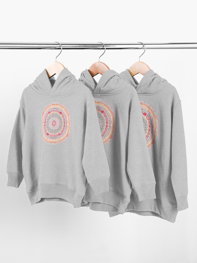 Alternate view of Pastel Bohemian Mandala Toddler Pullover Hoodie