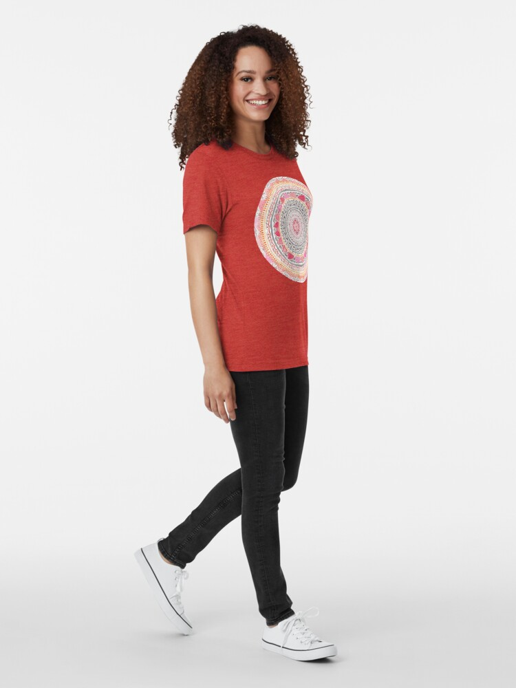 Alternate view of Pastel Bohemian Mandala Tri-blend T-Shirt