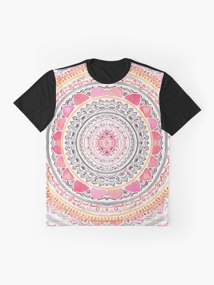Alternate view of Pastel Bohemian Mandala Graphic T-Shirt