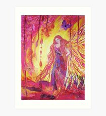 Dragons light. Art Print