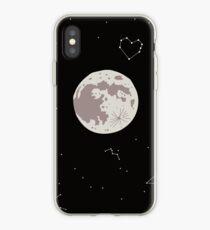 Mond, Sterne und Space Love Constellation iPhone-Hülle & Cover