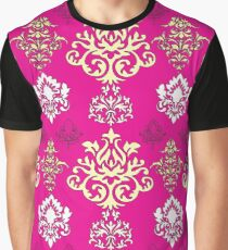 Multicoloured Damask Five Graphic T-Shirt