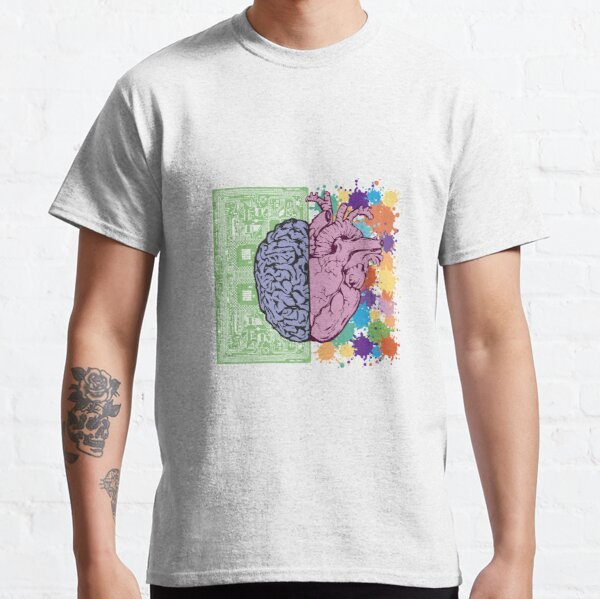 Brain and technology biotechnology color colorful Classic T-Shirt
