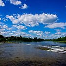 The Mississippi River on a sunny day by Josef Pittner