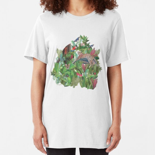 Into the Wild Emerald Forest  Slim Fit T-Shirt