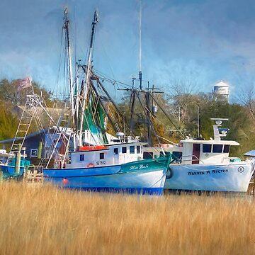 Shem Creek Shrimp Boats by imagetj