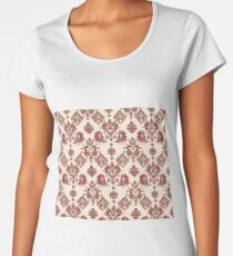 Red and Gold Vintage Damask Women's Premium T-Shirt
