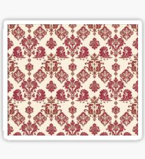 Red and Gold Vintage Damask Sticker