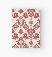 Red and Gold Vintage Damask Hardcover Journal