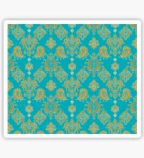 Gold and Blue Vintage Pattern Sticker