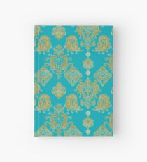 Gold and Blue Vintage Pattern Hardcover Journal
