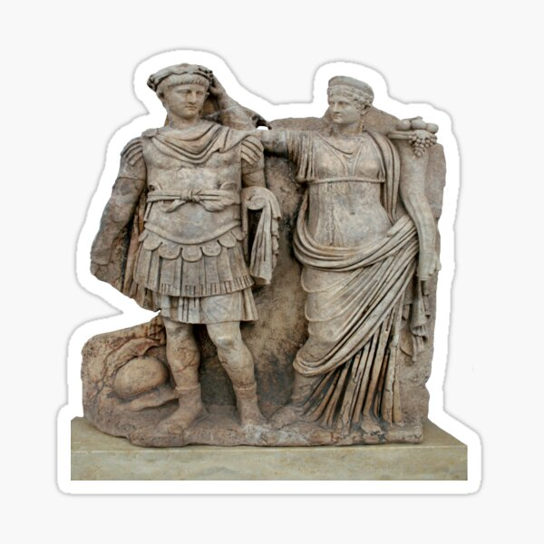 Nero and His Mother, Agrippina Roman Statue Sticker