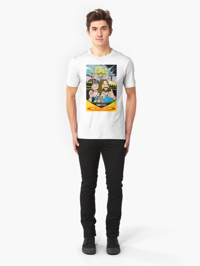 Alternate view of This Epic Disaster - Jay Hilgenfeld Illustration Slim Fit T-Shirt