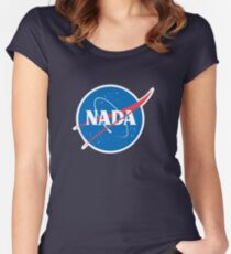 #NADA Flat Earth Parody Logo Women's Fitted Scoop T-Shirt