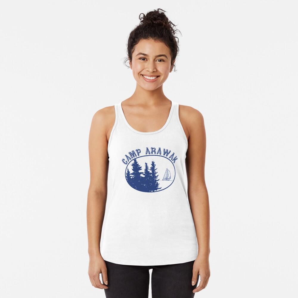 Camp Arawak Gift Retro Summer Camp  Racerback Tank Top