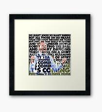Football's Coming Home, Gareth Framed Print