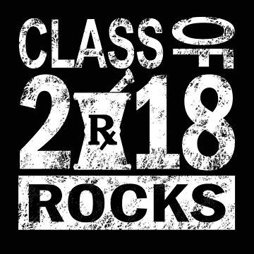Graduation Class 2018 Rocks Tee Shirt Funny Bye 2018 Graduate Gift idea by MrTStyle