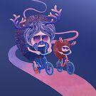 «Padre e hijo en bicicleta» de Ruta Dumalakaite