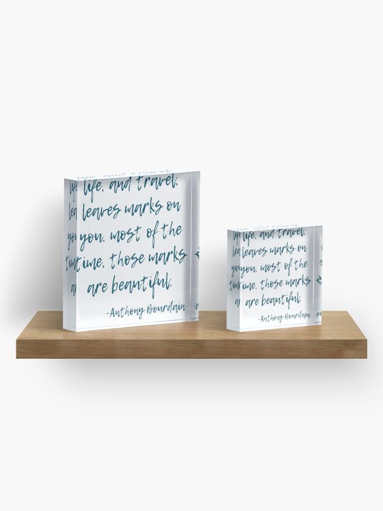 Alternate view of Marks - Anthony Bourdain Acrylic Block