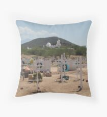 San Xavier from the Cemetery Throw Pillow
