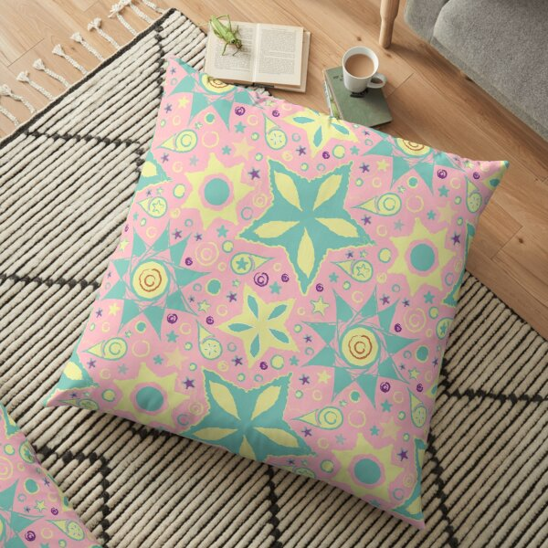 Stars and Comets Candy Floor Pillow