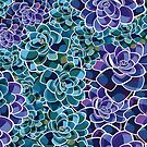 succulent design for gardening, gardeners and florists | gifts for women by SleeplessLady