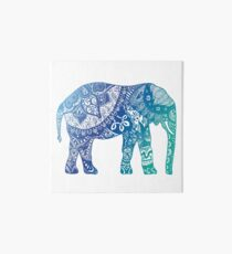 Blue Elephant Art Board