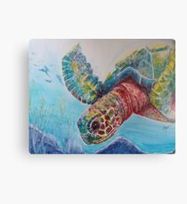 Sea Turtle Dive Canvas Print