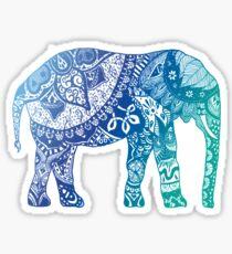 Pegatina Elefante azul