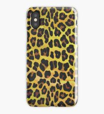 Leopard Brown and Yellow Print iPhone Case/Skin