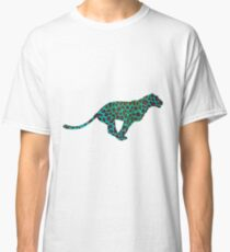 Leopard Brown and Teal Print Classic T-Shirt