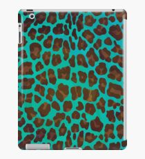 Leopard Brown and Teal Print iPad Case/Skin