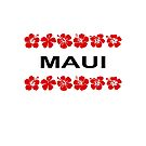 Maui Red Flower Bands Color-Light by TinyStarAmerica