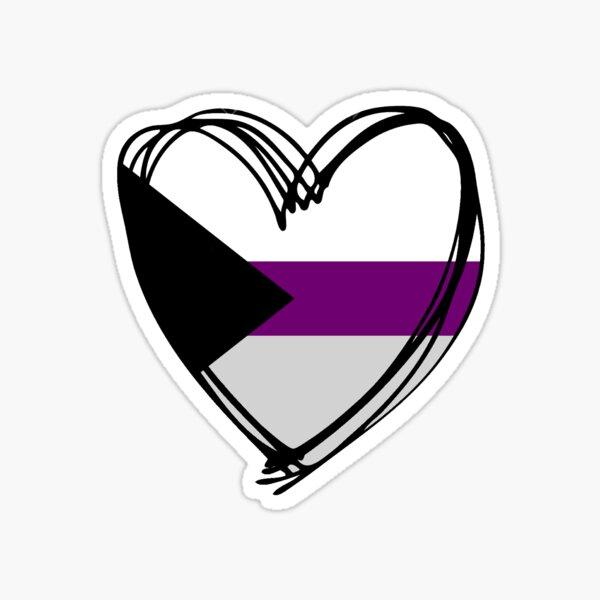 Demisexual heart Sticker
