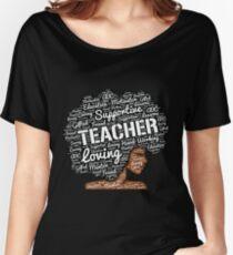 Wörter in der Afro-Kunst für Afroamerikaner-Lehrer Loose Fit T-Shirt