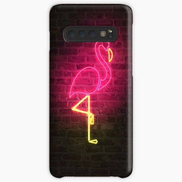 Flamingo faux neon Samsung Galaxy Snap Case