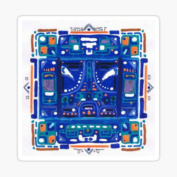 Noche Solar Azul Pegatina