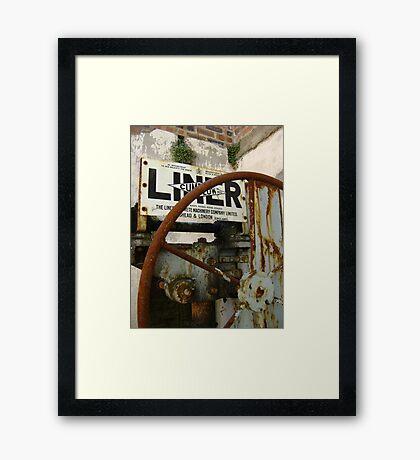 now retired Framed Print