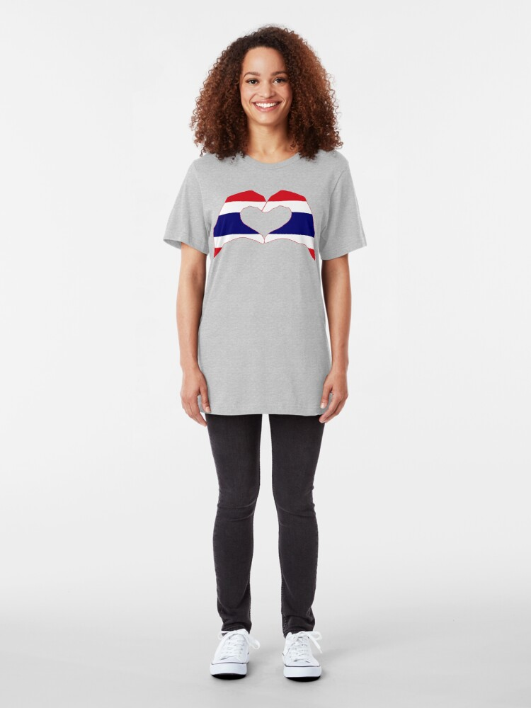Alternate view of We Heart Thailand Patriot Flag Series Slim Fit T-Shirt