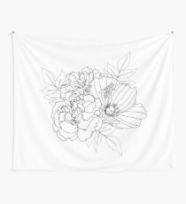 Floral Arrangment Wall Tapestry