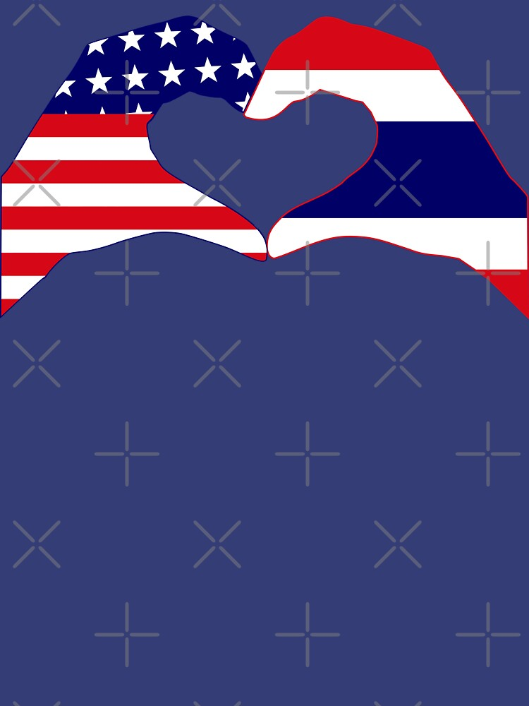 We Heart USA &Thailand Patriot Flag Series by carbonfibreme