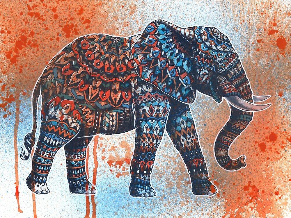 Tangerine Sky Elephant by BioWorkZ