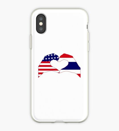 We Heart USA &Thailand Patriot Flag Series iPhone Case