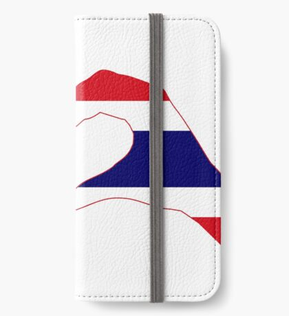 We Heart USA &Thailand Patriot Flag Series iPhone Wallet
