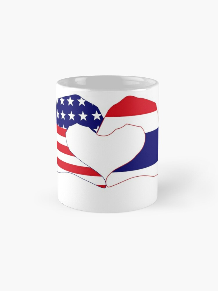 Alternate view of We Heart USA &Thailand Patriot Flag Series Mug