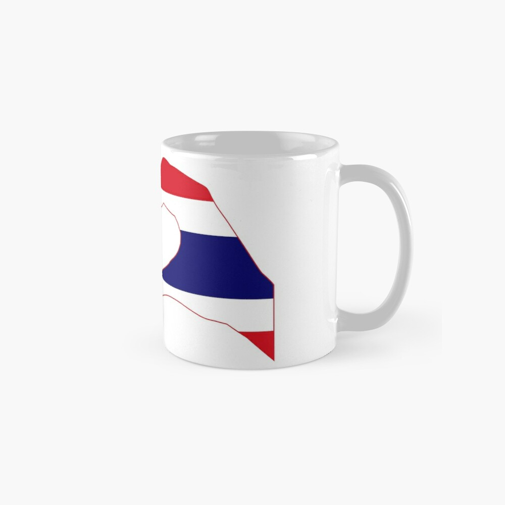 We Heart USA &Thailand Patriot Flag Series Mug