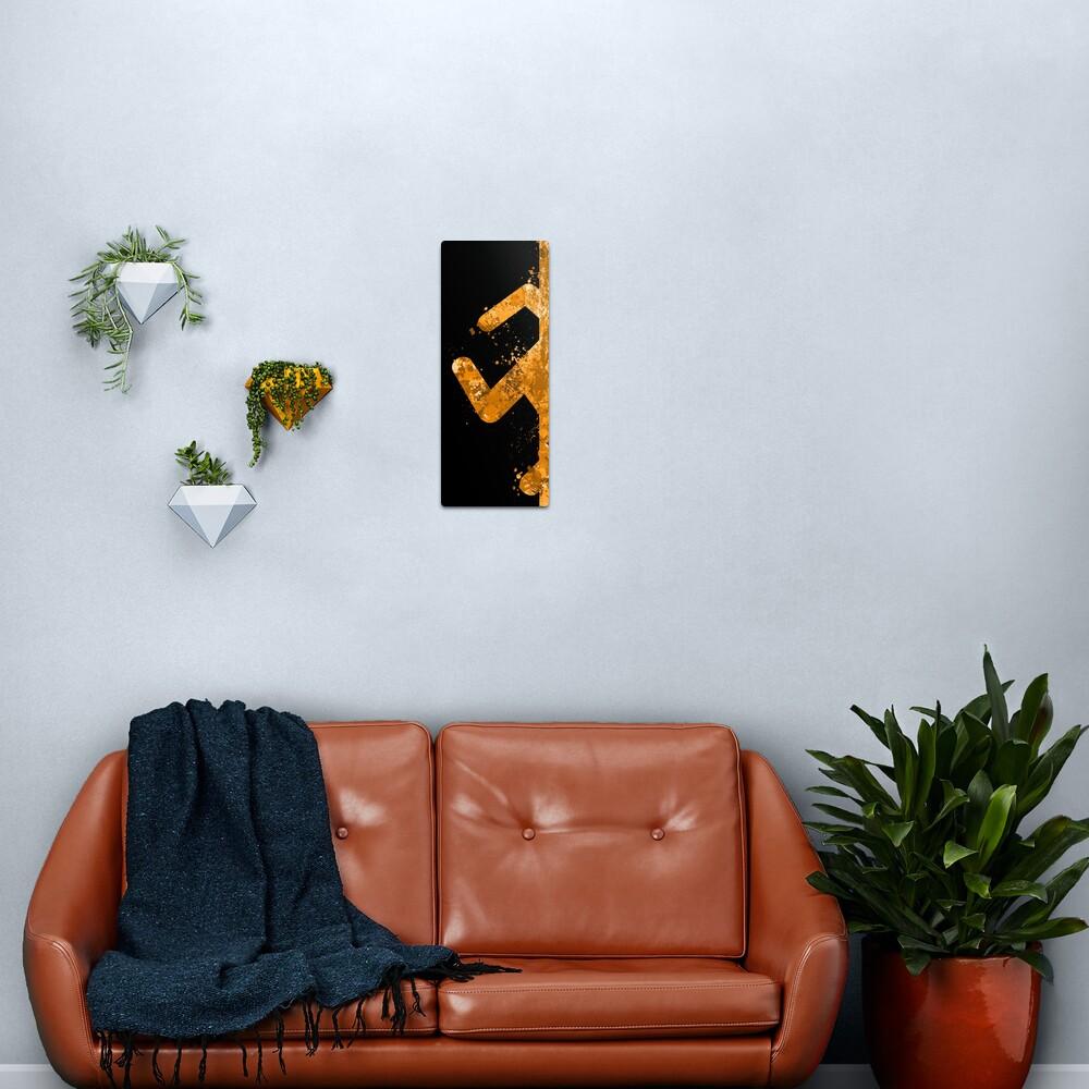 Portal - Orange Half Metal Print