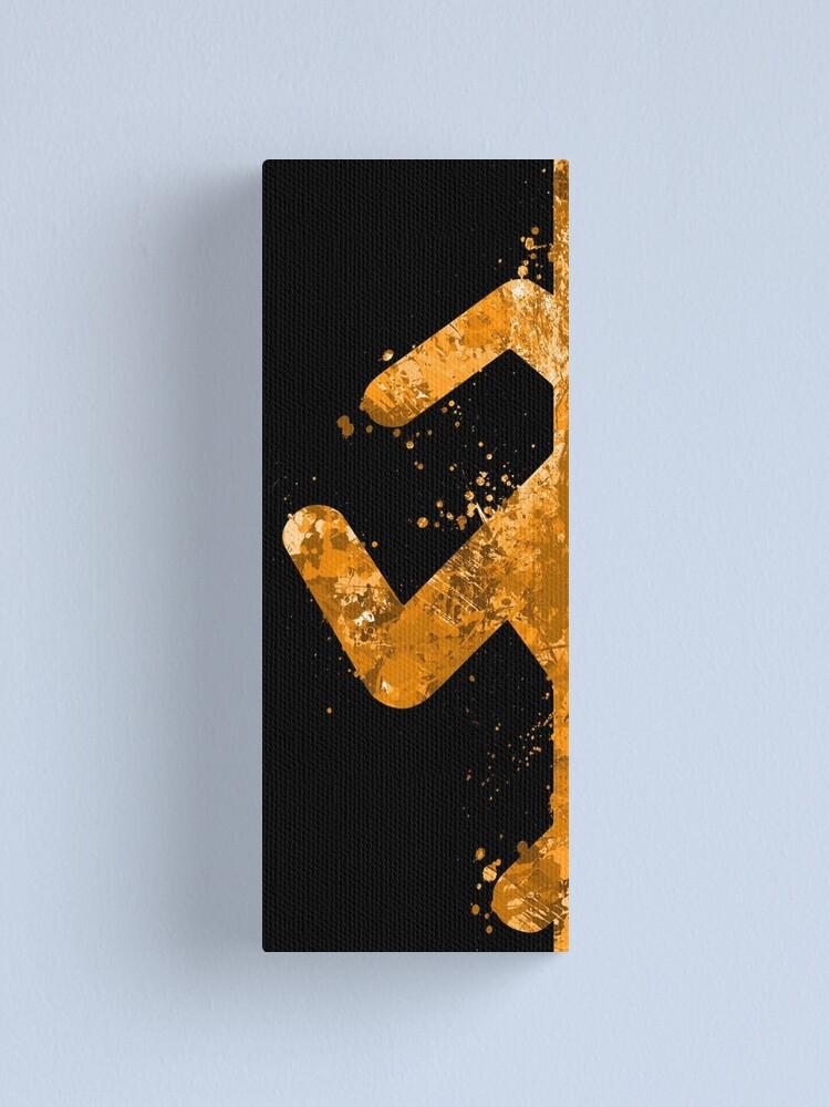 Alternate view of Portal - Orange Half Canvas Print