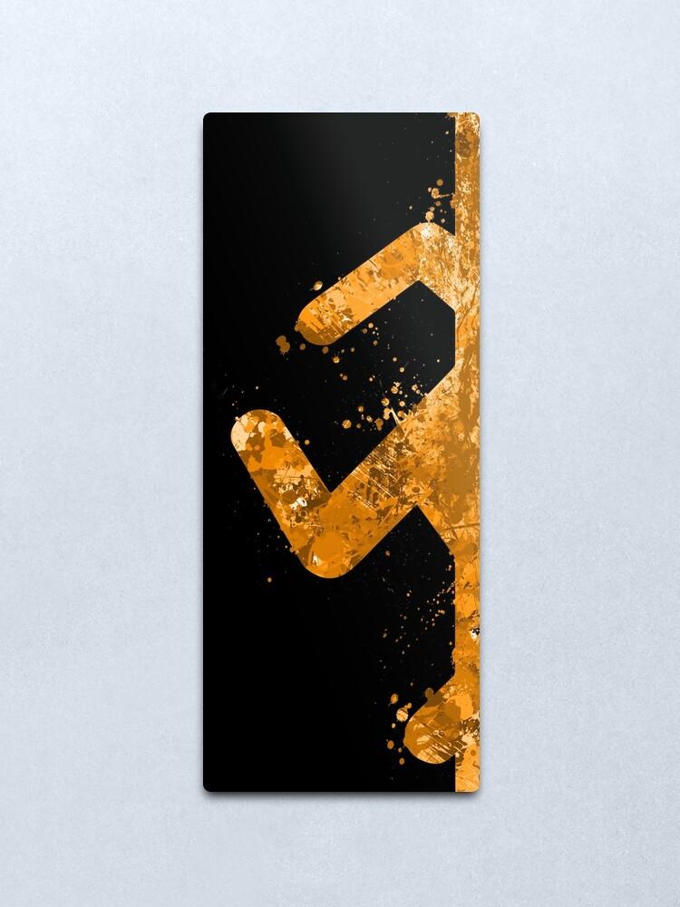 Alternate view of Portal - Orange Half Metal Print