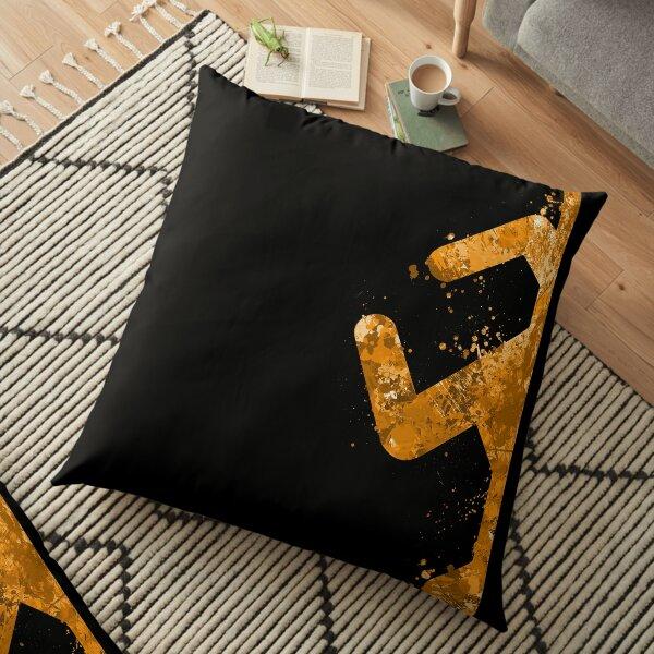 Portal - Orange Half Floor Pillow
